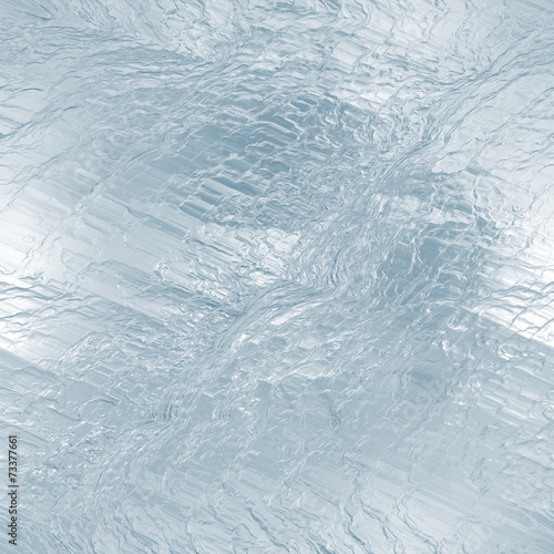 Seamless ice frozen water texture, abstract winter background - 73377661