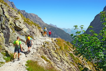 Marcheurs en montagne