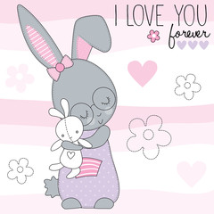 cute little bunny vector illustration