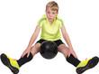 canvas print picture - Junger Fußballer