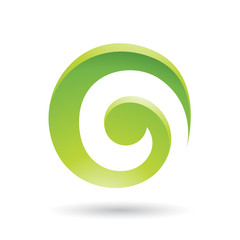 Green Swirl Abstract Icon