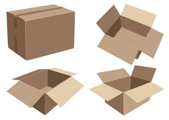 Packaging cardboard boxes for various products