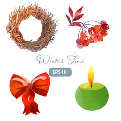christmas winter time wreath