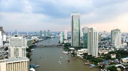 Transport on the Chao Phraya River, Bangkok Thailand.