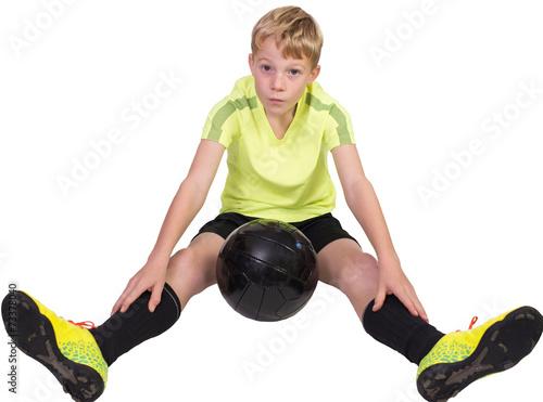 canvas print picture Junger Fußballer