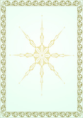 Vector vintage border frame with Christmas pattern