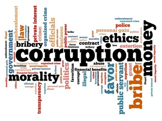 Corruption - tag cloud