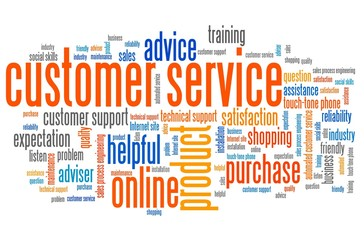 Customer service - tag cloud