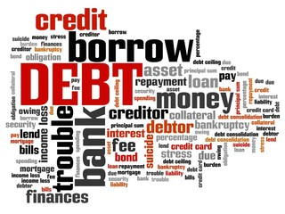 Debt - tag cloud