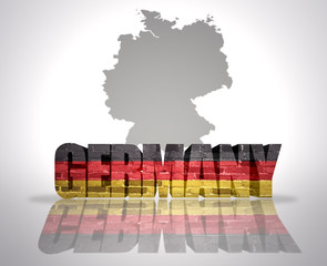 Word  Germany on a map background