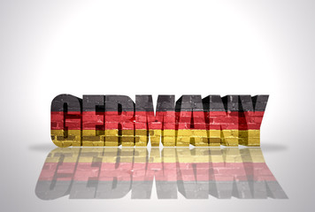 Word Germany on the white background