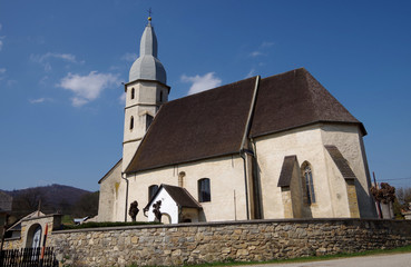 Gothic Evangelical church from the 14th century in Kocelovce.