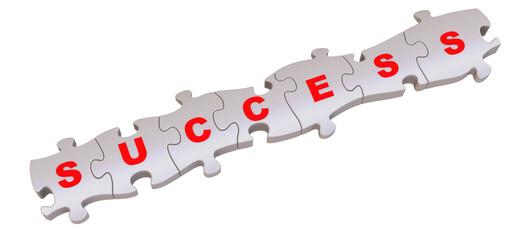 Успех (success). Слово составленное из пазлов