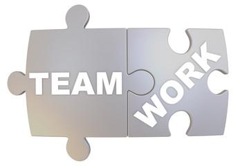 Командная работа (teamwork). Слово составленное из пазлов