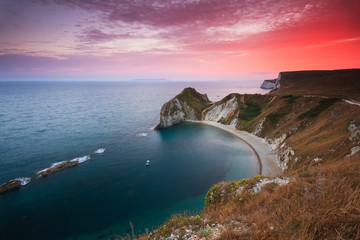 Jurassic Coast near Durdle Door in Dorset, UK.