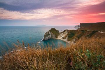 Jurassic Coast near Durdle Door in Dorset, UK.