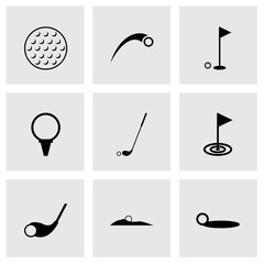 Vector golf icon set