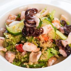 seafood salad with quinoa