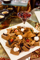 Variety of chocalate desserts