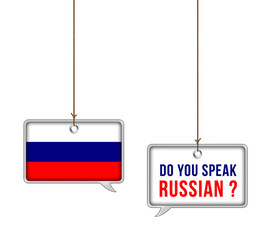Learn Russian - illustration concept