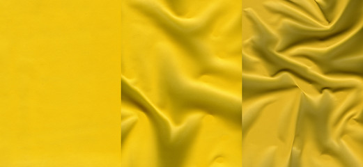 Set of  yellow leather textures