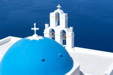 Agios Theodori Church in Fira, Santorini, Greece