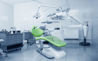 Special equipment for a dentist, dentist office