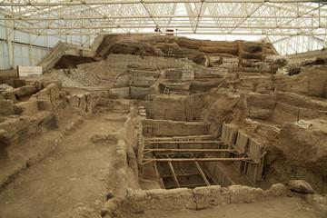 catalhoyuk Konya (Turkey). Built in 7500 B.C.
