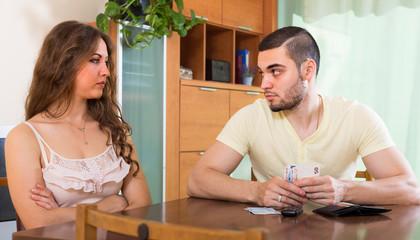 Couple having money problems