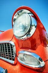 headlight of a oldtimer