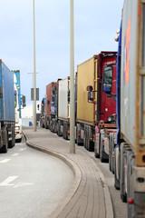 Lastkraftwagenstau
