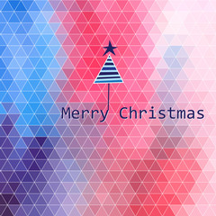 Christmas bright pattern of polygons
