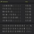Analog airport scoreboard - 73384230