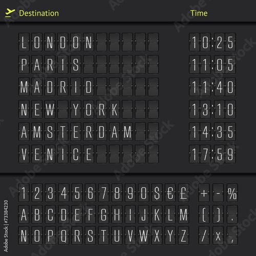 Analog airport scoreboard