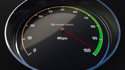 Network speed indicator
