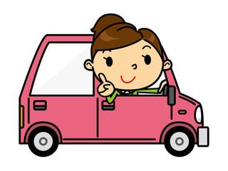SD女性 車