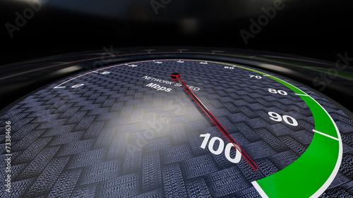 Leinwandbild Motiv Network speed indicator