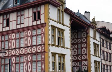 Immeubles à colombages à Bayonne
