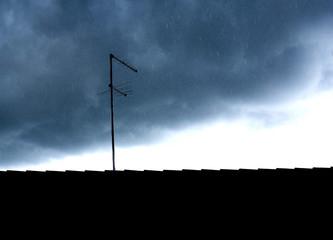 Storm and tv antenna