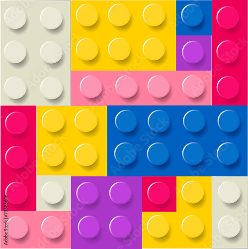 Lego blocks pattern vector - 73385646