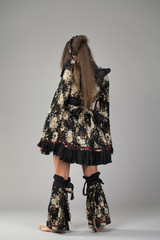 Beautiful young woman in kimono
