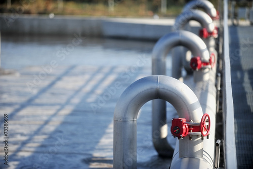 canvas print picture Waste water treatment plant