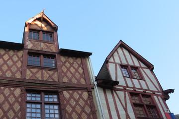 Maine et Loire - Saumur - Maisonss anciennes à colombages