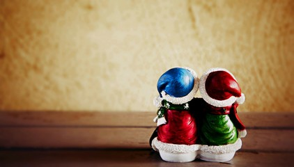 Snowman dolls enjoy the Christmas