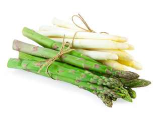 Green and White Asparagus bundle
