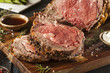 canvas print picture - Homemade Grass Fed Prime Rib Roast