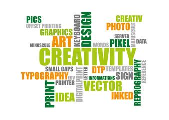 Kreativität Typo