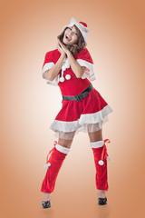 Smile happy Asian Christmas girl