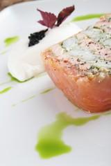 plated smoked salmon terrine appetizer starter