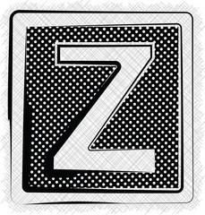 Polka Dot Font LETTER Z
